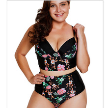 2019 New Sexy Women Swimsuit  Plus Size 5XL Two piece bathing suit high waist Large tankini swimsuits women surfing set