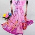 2016 160*50 cm Niñas Cape Mantón de La Manera Bufanda de La Gasa de la Alta calidad Caliente Glitter Ombre Sección Delgada Bufanda de Las Mujeres chal