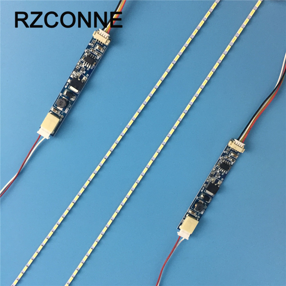 19 Inch Wide 420mmx2.0mm LCD Laptop Dimable LED Backlight Lamps Adjustable Update Kit Strip+Board 9-25V Input 2sets