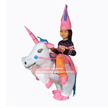 Inflatable Unicorn Costumes for Kid Adult Ride on Dinosaur Cowboy Duck Fancy Dress Purim Halloween Carnival
