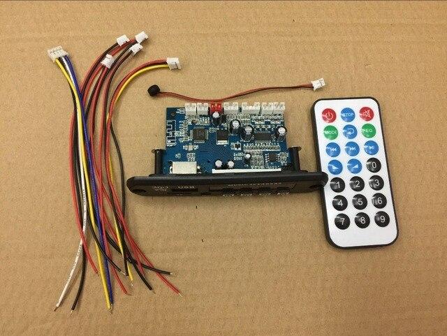 الالكترونيات الذكية USB TF سماعة لاسلكية تعمل بالبلوتوث ، WMA ، APE ، FLAC ، WAV فك مجلس 12 فولت سيارة لاسلكية الصوت بلوتوث وحدة يدوي