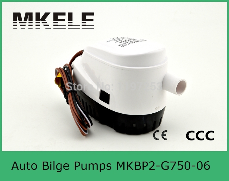 ФОТО MKBP2-G750-06 750GPH 24v small DC Submersible bilge water pump for Fountain garden irrigation swimming pool cleaning farming