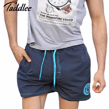 Taddlee Brand Men's Quick Drying Boxers Trunks Active Man Bermudas Sweatpants Men Beach Swimwear Swimsuit Board Shorts XXXL Size