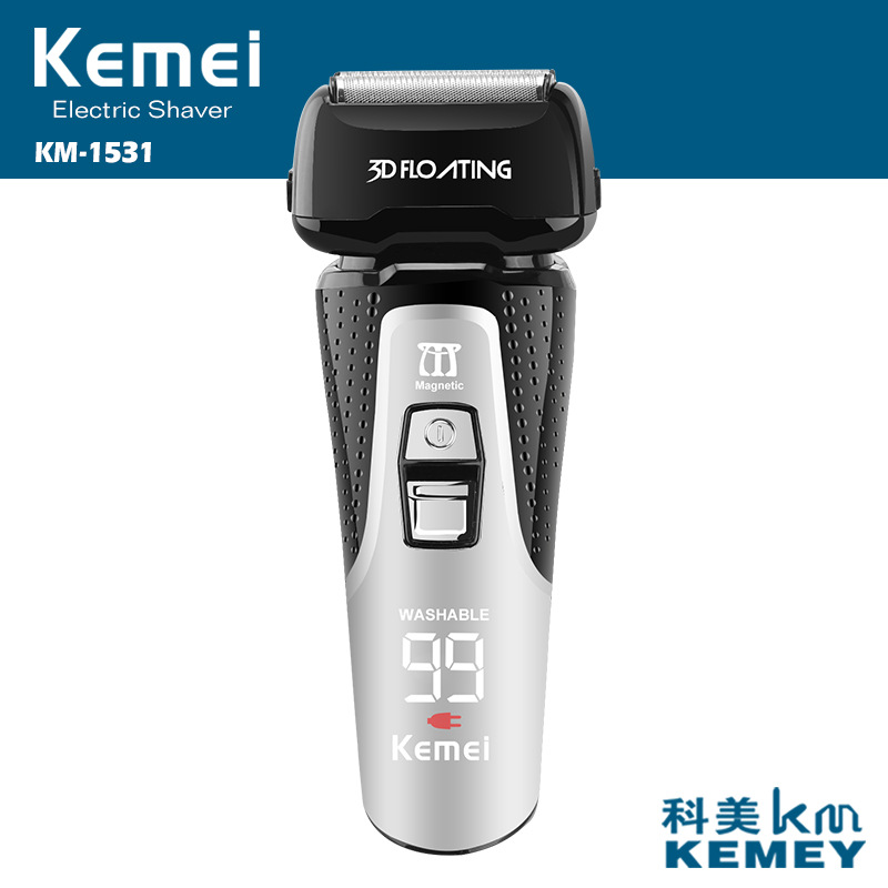 100-240v kemei rechargeable electric shaver powerful beard