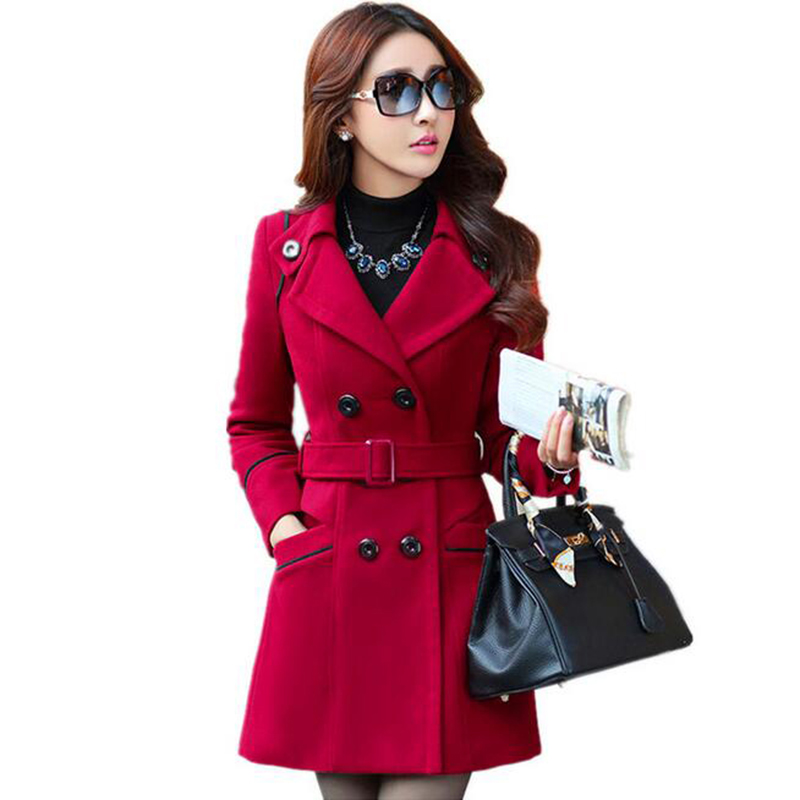 Nice Winter Coat For Women Solid Double Breasted Wool Coats Long ...