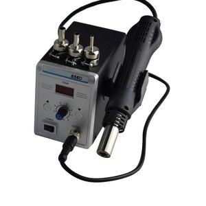 Image 2 - Estación de soldadura Eruntop 858D, sin plomo, Digital LED, desoldadura de hierro para soldar, BGA refundido, pistola de aire caliente
