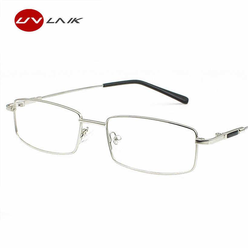 34ae70b91ba11 ... UVLAIK Titanium Glasses Frames Men Women Spectacle Transparent Eyeglasses  Frame Business Eye Glasses Myopia Optical Glasses ...