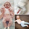 Toddler Baby Boy Girl Heart Pattern Cotton Bottom Pants Casual Soft Kids Trousers Leggings For Baby 6-24M