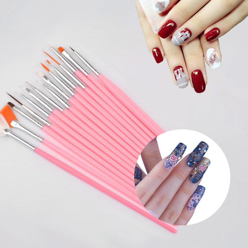 15pcs professional nail art brush