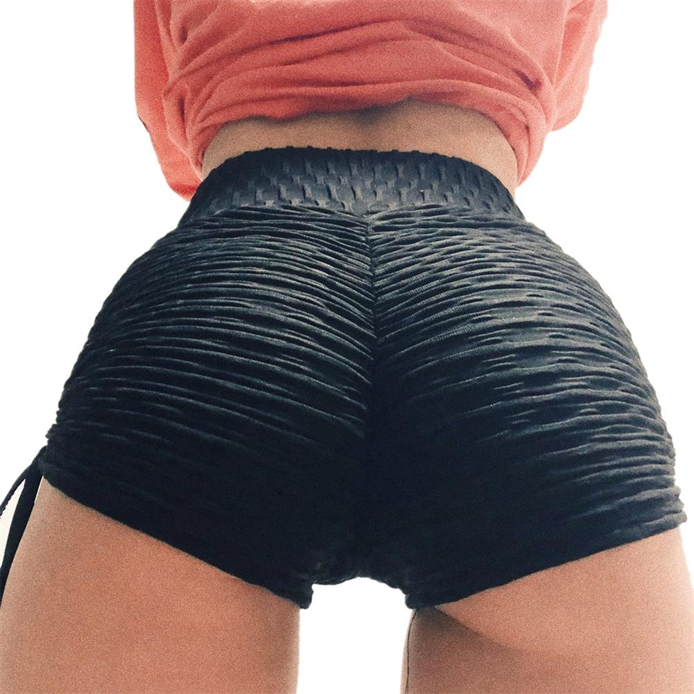 Tighten Women Yoga Shorts High Waist Sport Fitness Quick Dry Hollow Cross Short Gym Running Workout Leggings Bottom XL