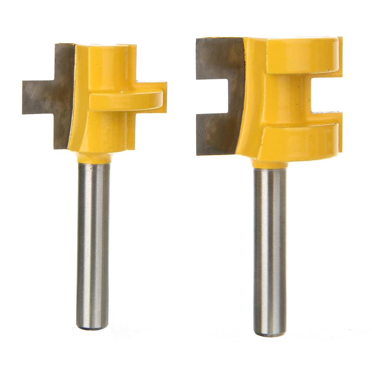 """2Pcs Woodworking Chisel Cutter 2 Bit Tongue And Groove Router Bit 1/4"""" Shank Milling Cutter  Woodworking Chisel Cutter"""