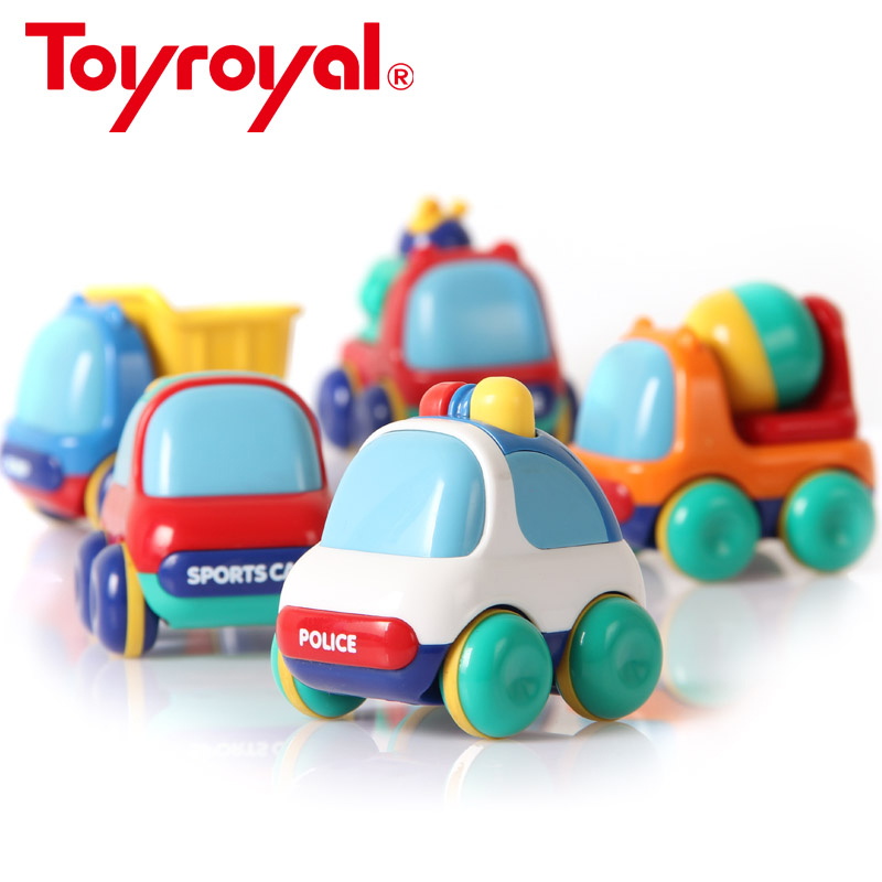Toyroyal Baby Inertia Vehicles Push and Go Toddlers Mini Geseran Plastic Powered Toys Toys Gift for Children Kids Boys and Girls