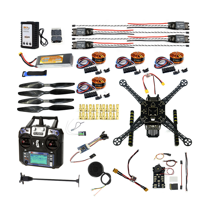फुल सेट DIY FPV ड्रोन किट S600 4-एक्सिस एरियल क्वॉडकॉप्टर Pix2.4.8 फ्लाइट कंट्रोल GPS 7M 40A ESC 700kv मोटर FS-I6 ट्रांसमीटर