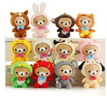 12 pieces lovely plushed Easily bear toys Chinese zodiac design easily bears dolls birthday gift about 30cm