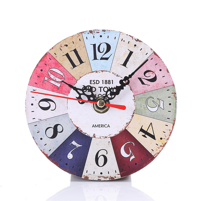 1PC Wall Clock Modern Design wall watch Vintage Style Non-Ticking Antiqu Wall Clock horloge murale reloj de pared decorativo D19 (12)