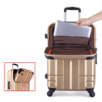 BeaSumore High grade Luxury Aluminum Frame Rolling Luggage Spinner Wheels Suitcase Trolley High Quality Laptop Travel bag
