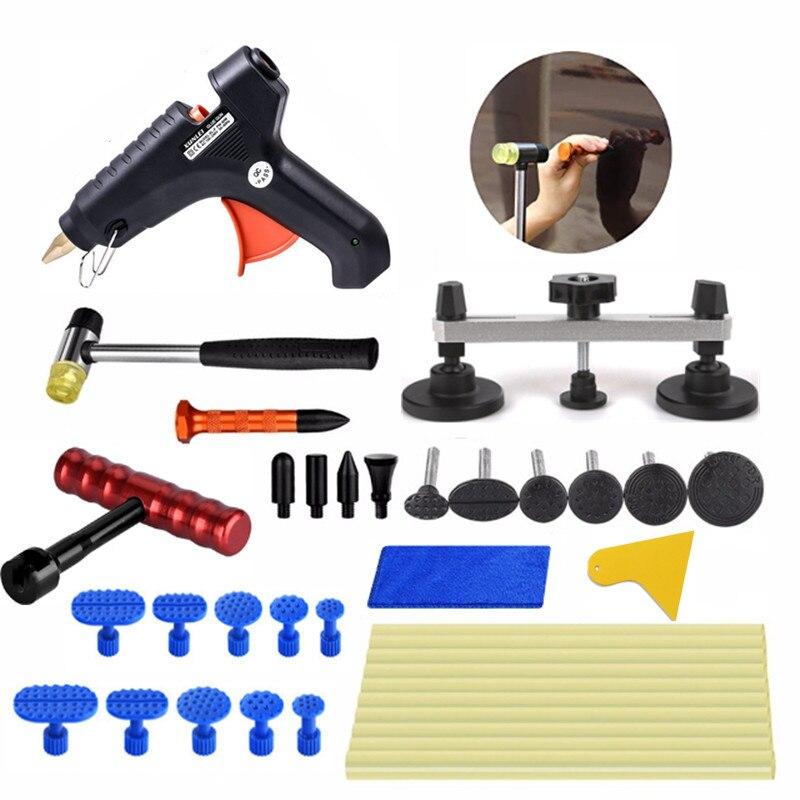 Strumenti di Riparazione strumenti di Rimozione Paintless Auto Dent PDR glue Puller pistola di colla dent schede 20 pz Rosso T-bar dent rimozione kit di strumenti di