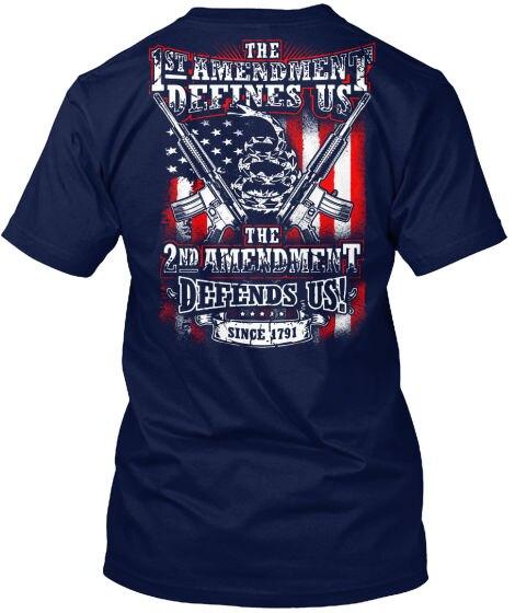 -2nd Emendamento Il primo Definisce Us Difende Noi! dal momento che Hanes Tagless Tee T-Shirt