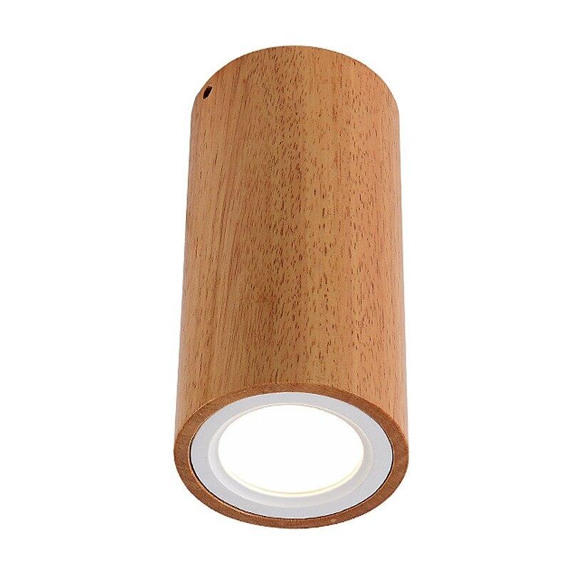 Botimi Modern Led Ceiling Lights For Corridor Small Round Wooden Ceiling Lamp Modern Square Luminaire Cuboid Wood Lightings Ceiling Lights