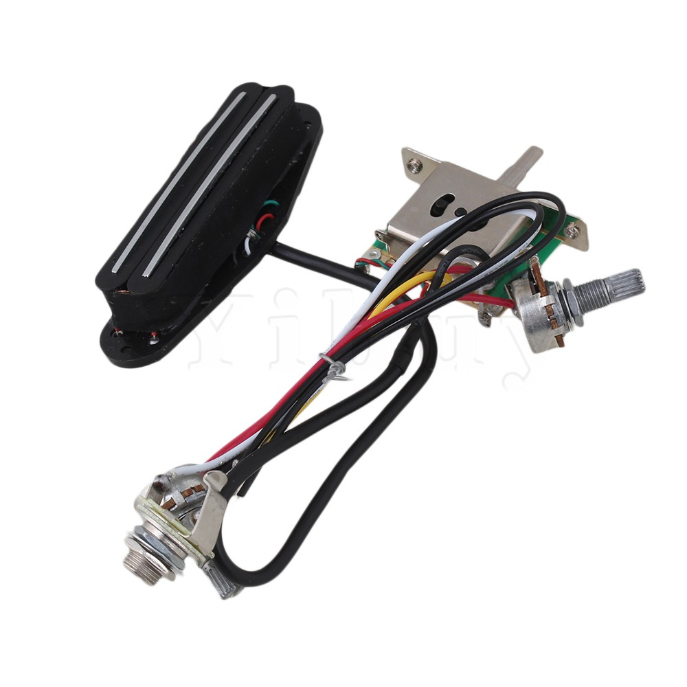 Yibuy Electric Guitar Circuit Wiring Harness Twin Coil Pickup 3 Way Switch Set In Parts Accessories From Sports Entertainment On