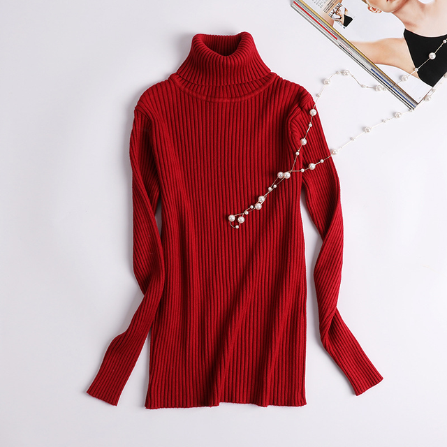 2018 Winter Clothing Turtleneck Women Sweater Autumn Jumper Plus Size Jersey Pull Female Pullover Lady Coat Cashmere Knitted 2
