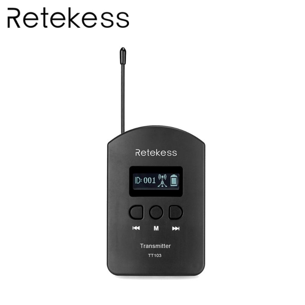 Retekess TT103 UHF Wireless Audio 740 790MHz Portable Transmitter USB charging for Tour Guide System Meeting