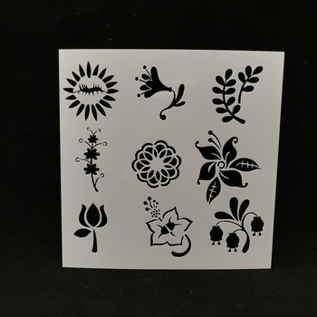 13*13 Flowers pvc Layering Stencils for DIY Scrapbooking/photo album Decorative Embossing DIY Paper Cards Crafts image