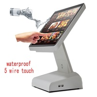 New cash register 15 inch all in a pos pc touch computer pos terminal pos syetem cash register