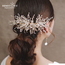 Stunning Crystal Beads Wedding Hair Comb Gold Bridal Headpiece Handmade Women Accessories Jewelry Head Wear Combs
