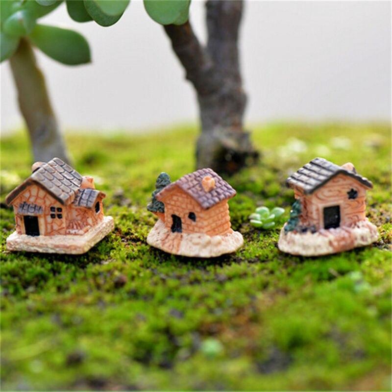 unids cm pequeas casas artesana mini modelo de la casa de diseo