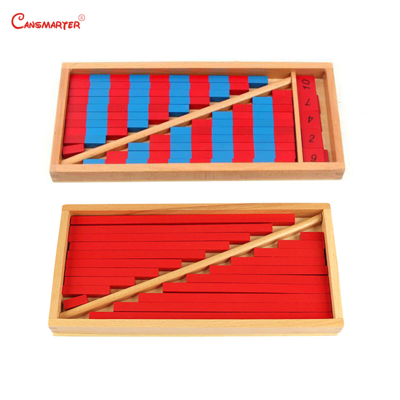 Math Numerical Rods Mini Red Sticks Box Montessori Toy Early Education Home Games Number Exercises Wooden Materials MA002-3Math Numerical Rods Mini Red Sticks Box Montessori Toy Early Education Home Games Number Exercises Wooden Materials MA002-3