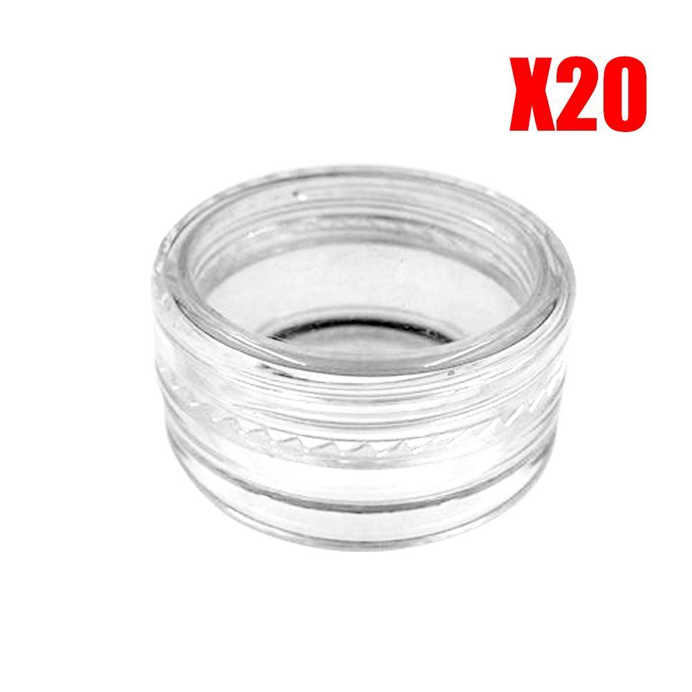 +++ 20 Pcs 5ml 3ml 2ml Cosmetic Empty Jar Pot Eyeshadow Makeup Face Cream Lip Balm Container