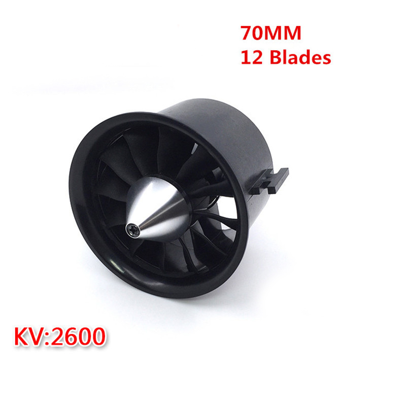 цена на Weyland 70mm EDF QF2827 2600KV Motor with 12 Blades Ducted Fan for RC Jet AirPlane