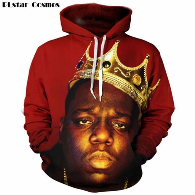 797a328efb7 PLstar Cosmos Hip hop 3d Hooded sweatshirt for Men Women fashion pullovers  print rapper Biggie Smalls Tupac 2pac hoodies