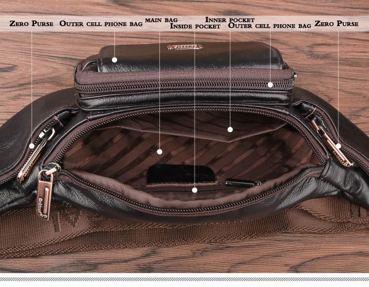 Cheap leather waist bag