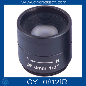 Megapixels CCTV Camera lens/8mm Fixed Iris IR Lens /2pcs/lot . free shipping 2 8mm fixed iris ir lens 1 3 cs f1 2 cctv camera