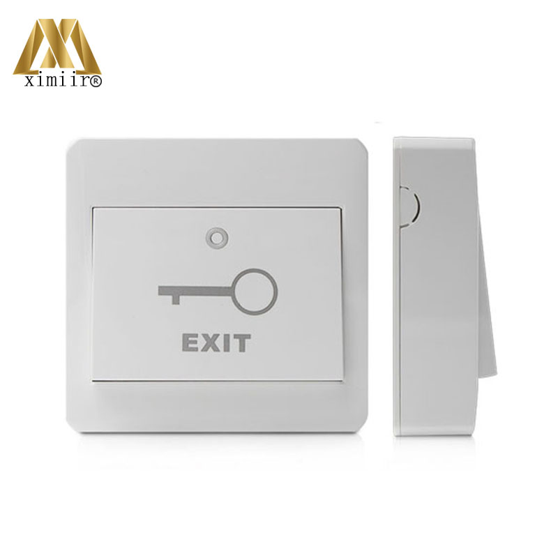 E15-M Exit Button Release Plastic Exit Button With Back Box Contactless For Access Control System