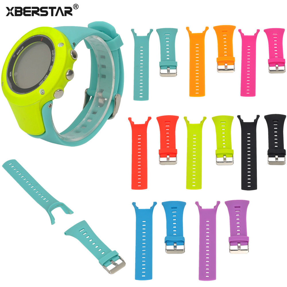 Купить со скидкой XBERSTAR Silicone Wrist Sports Band Strap for SUUNTO AMBIT Series 1/2/3 Watch Band Bracelet Replacem
