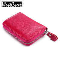 Genuine Leather Coin Purse Small Wallets Mini Change Purse Women Identity Safe Card Wizard Wallet Money
