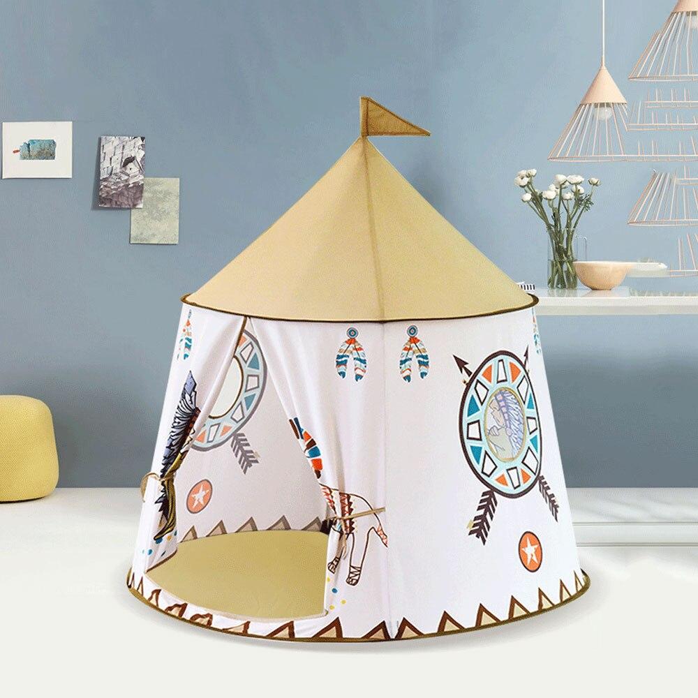 Princesse enfants jouer tente Portable Tipi chambre d'enfants Tipi Tenda Infantil Playhouse extérieur enfants petite maison enfants tente