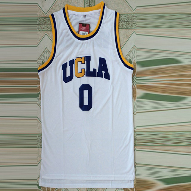 low priced d6473 edc9b US $18.16 |Pastore1908 russell westbrook ucla basketball jersey#0  embroidery logo sleeveless fitness quick dry polyester sports tops  3color-in ...