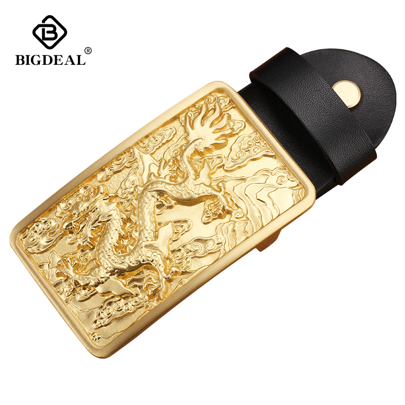 Men's Tactical Belt Buckle Copper Material Smooth Buckle Body Width 3.8CM High Quality Designers Fashion Brand