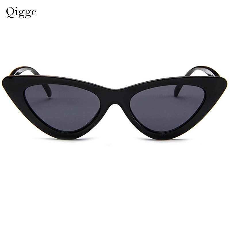 Qigge Lovely Cat Eye Retro Cat Eye Sunglasses Mujeres 2018 Triangle - Accesorios para la ropa - foto 4