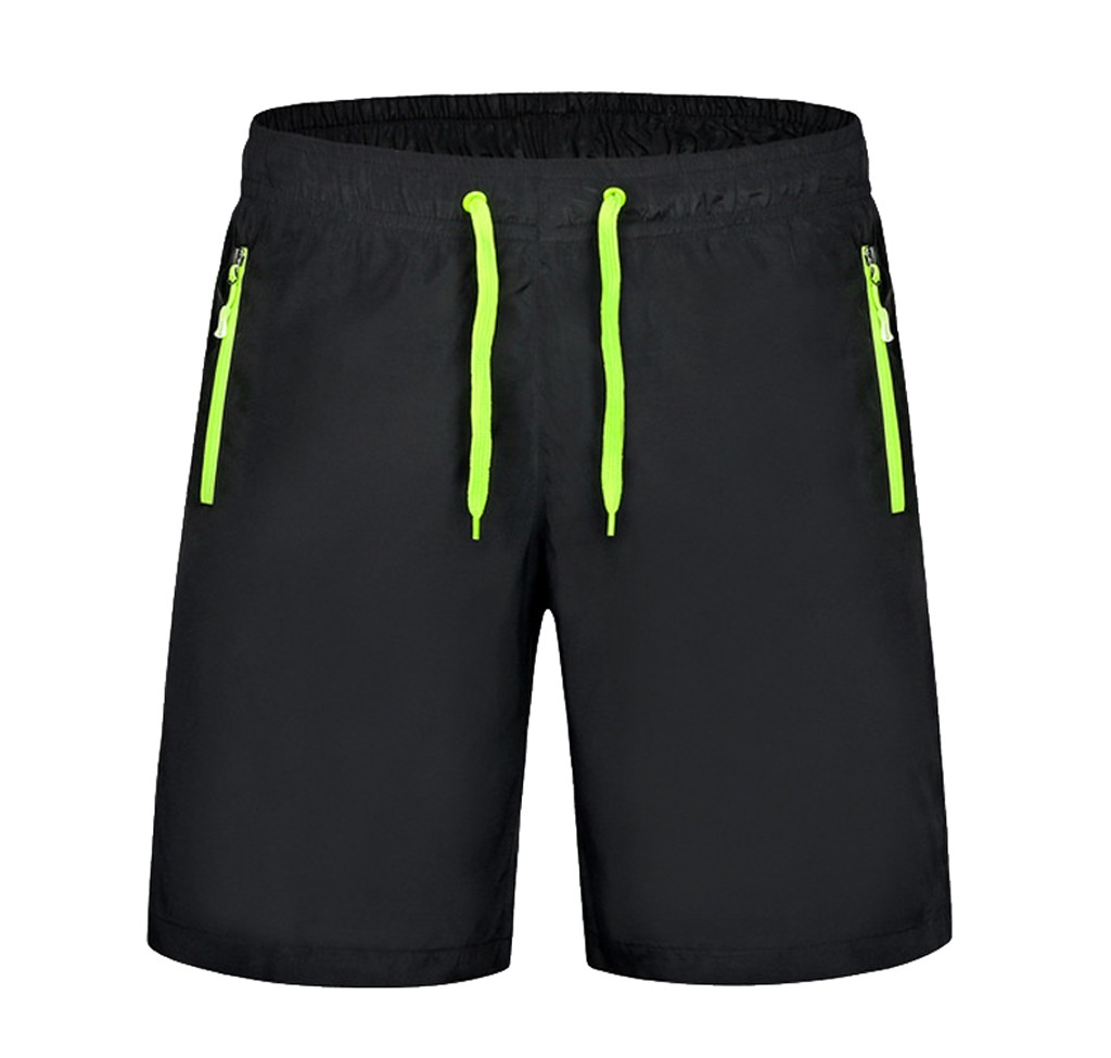CHAMSGEND Swimming Trunks Beach-Pants Summer And Elastic-Band Spring Zipper-Pocket Solid-Color