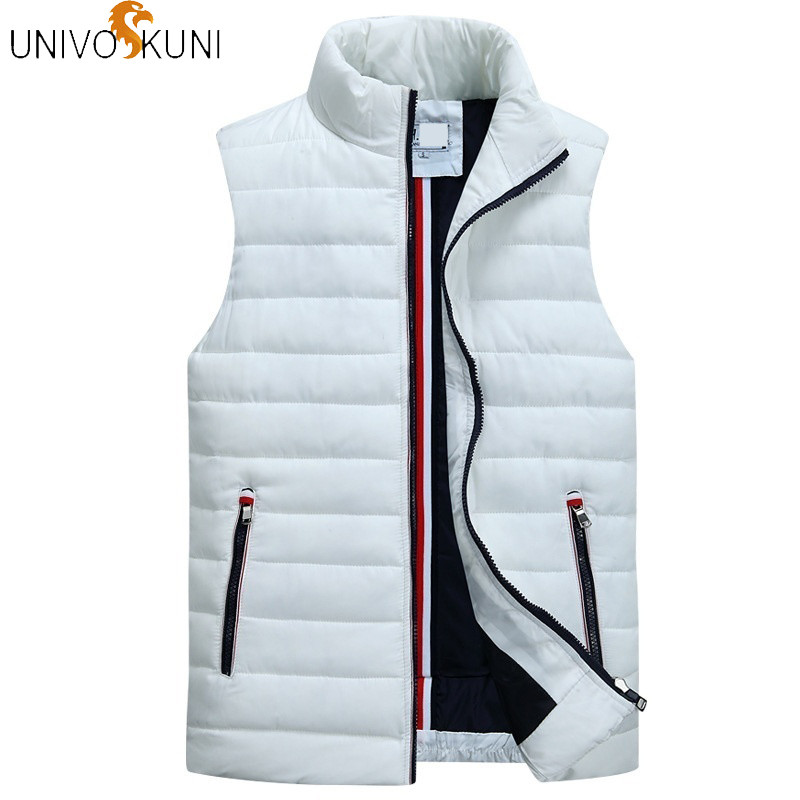 UNIVOS KUNI Veste Men's Sleeveless Vest Homme Winter Casual Coats Male Cotton-Padded Thickening Vest Men Waistcoat Plus Size 5XL