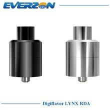 Original Digiflavor LYNX Tanque RDA 25mm Diámetro de Control de Flujo de 2.0 ml Atomizador Goteo Rebuildable con alambre Regalo