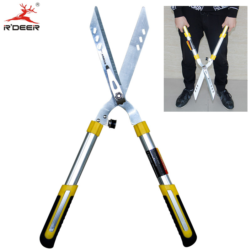 Grass Shears Large Grade Scissors Professional Hedge Clipper For Prune Tree Borders Bushes Garden Tools