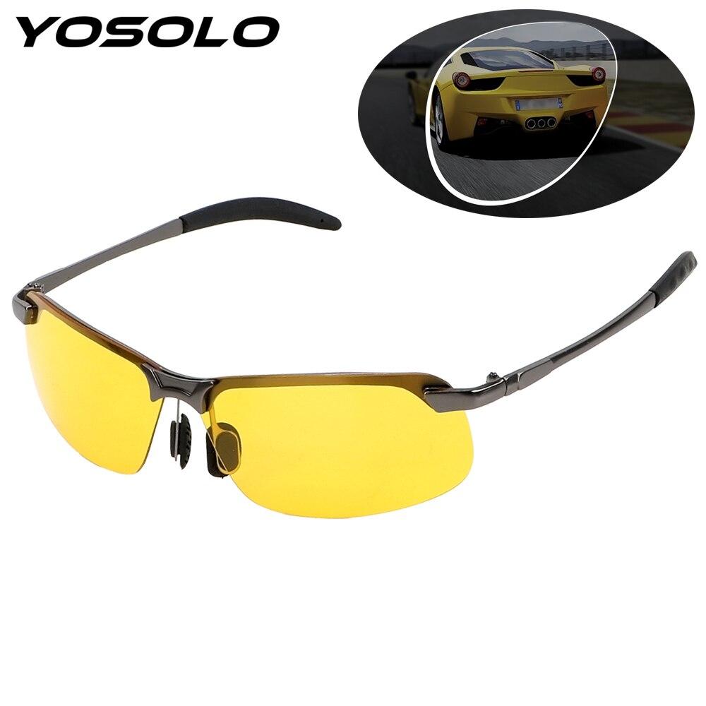 YOSOLO lunettes de Vision nocturne lunettes de soleil UV lunettes de protection Auto accessoires voiture pilote lunettes UV400 conduite lunettes