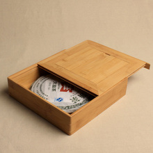 quality Puer tea box gift packaging Handmade pu er tea set health care bamboo tray wooden storage boxes wholesale