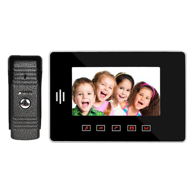 High-definition 7inch Touch TFT LCD Video Door Bell Home Intercom System Family Security Safety Doorbell Doorphone Hot Sale